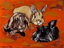 Three Bunnies (commission) 2016